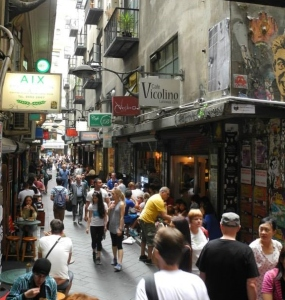 The city laneways were buzzing (2)